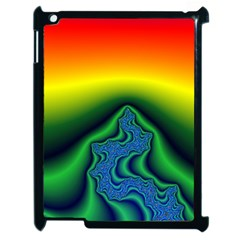 Fractal Wallpaper Water And Fire Apple Ipad 2 Case (black)