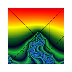 Fractal Wallpaper Water And Fire Acrylic Tangram Puzzle (6  x 6 )