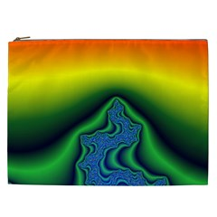 Fractal Wallpaper Water And Fire Cosmetic Bag (XXL)