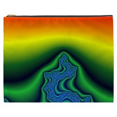 Fractal Wallpaper Water And Fire Cosmetic Bag (xxxl)