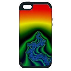 Fractal Wallpaper Water And Fire Apple Iphone 5 Hardshell Case (pc+silicone)
