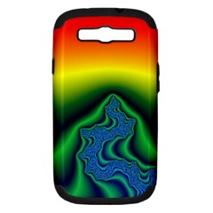 Fractal Wallpaper Water And Fire Samsung Galaxy S III Hardshell Case (PC+Silicone)