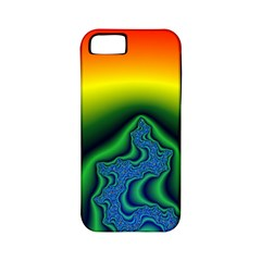 Fractal Wallpaper Water And Fire Apple iPhone 5 Classic Hardshell Case (PC+Silicone)