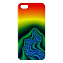 Fractal Wallpaper Water And Fire Apple Iphone 5 Premium Hardshell Case