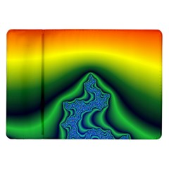 Fractal Wallpaper Water And Fire Samsung Galaxy Tab 10.1  P7500 Flip Case