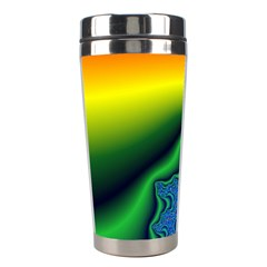 Fractal Wallpaper Water And Fire Stainless Steel Travel Tumblers