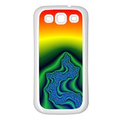 Fractal Wallpaper Water And Fire Samsung Galaxy S3 Back Case (white)