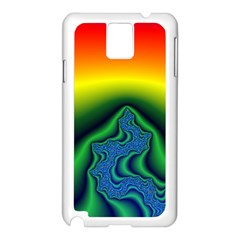 Fractal Wallpaper Water And Fire Samsung Galaxy Note 3 N9005 Case (White)