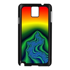 Fractal Wallpaper Water And Fire Samsung Galaxy Note 3 N9005 Case (black)