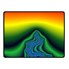 Fractal Wallpaper Water And Fire Double Sided Fleece Blanket (Small)