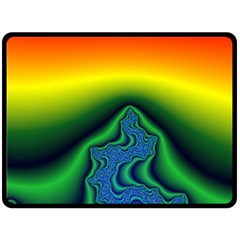 Fractal Wallpaper Water And Fire Double Sided Fleece Blanket (large)