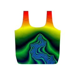 Fractal Wallpaper Water And Fire Full Print Recycle Bags (s)