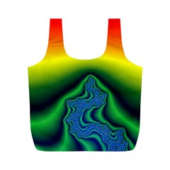 Fractal Wallpaper Water And Fire Full Print Recycle Bags (m)