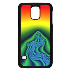 Fractal Wallpaper Water And Fire Samsung Galaxy S5 Case (black)