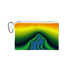 Fractal Wallpaper Water And Fire Canvas Cosmetic Bag (S)