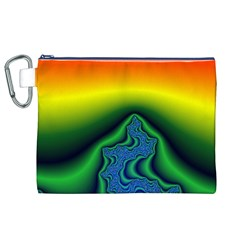 Fractal Wallpaper Water And Fire Canvas Cosmetic Bag (xl)