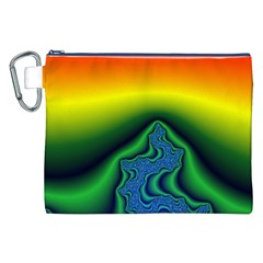 Fractal Wallpaper Water And Fire Canvas Cosmetic Bag (XXL)