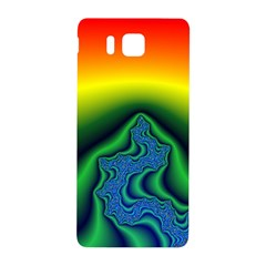 Fractal Wallpaper Water And Fire Samsung Galaxy Alpha Hardshell Back Case