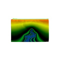 Fractal Wallpaper Water And Fire Cosmetic Bag (xs)