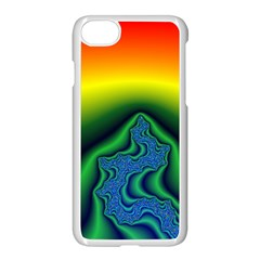 Fractal Wallpaper Water And Fire Apple Iphone 7 Seamless Case (white)