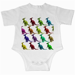 Multicolor Dinosaur Background Infant Creepers