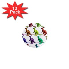 Multicolor Dinosaur Background 1  Mini Magnet (10 Pack)