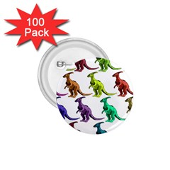 Multicolor Dinosaur Background 1 75  Buttons (100 Pack)