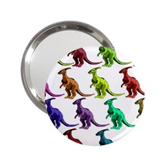 Multicolor Dinosaur Background 2 25  Handbag Mirrors