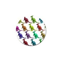 Multicolor Dinosaur Background Golf Ball Marker