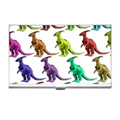 Multicolor Dinosaur Background Business Card Holders