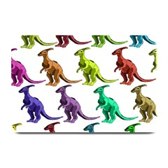 Multicolor Dinosaur Background Plate Mats