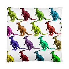 Multicolor Dinosaur Background Standard Cushion Case (two Sides)