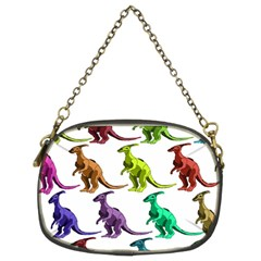 Multicolor Dinosaur Background Chain Purses (two Sides)