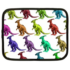 Multicolor Dinosaur Background Netbook Case (xxl)