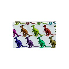 Multicolor Dinosaur Background Cosmetic Bag (small)