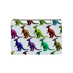 Multicolor Dinosaur Background Cosmetic Bag (medium)
