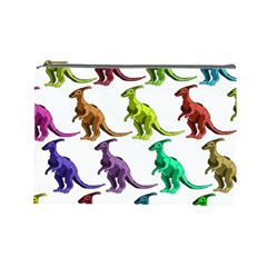 Multicolor Dinosaur Background Cosmetic Bag (large)