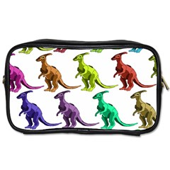 Multicolor Dinosaur Background Toiletries Bags 2 Side