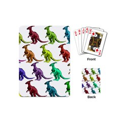 Multicolor Dinosaur Background Playing Cards (mini)