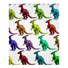Multicolor Dinosaur Background Shower Curtain 60  X 72  (medium)