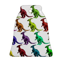 Multicolor Dinosaur Background Bell Ornament (two Sides)