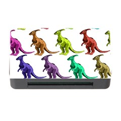Multicolor Dinosaur Background Memory Card Reader With Cf