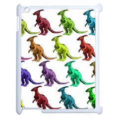 Multicolor Dinosaur Background Apple Ipad 2 Case (white)