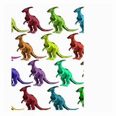 Multicolor Dinosaur Background Small Garden Flag (two Sides)