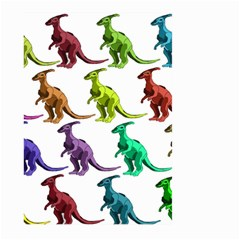 Multicolor Dinosaur Background Large Garden Flag (two Sides)
