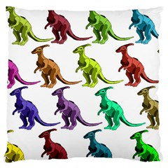 Multicolor Dinosaur Background Large Cushion Case (two Sides)