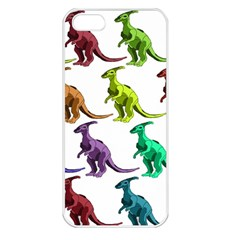 Multicolor Dinosaur Background Apple Iphone 5 Seamless Case (white)
