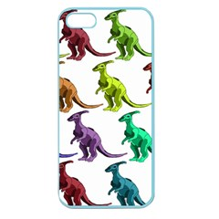 Multicolor Dinosaur Background Apple Seamless Iphone 5 Case (color)