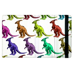 Multicolor Dinosaur Background Apple Ipad 2 Flip Case