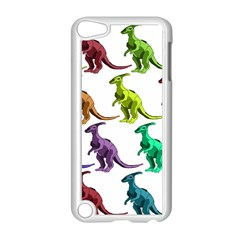 Multicolor Dinosaur Background Apple Ipod Touch 5 Case (white)